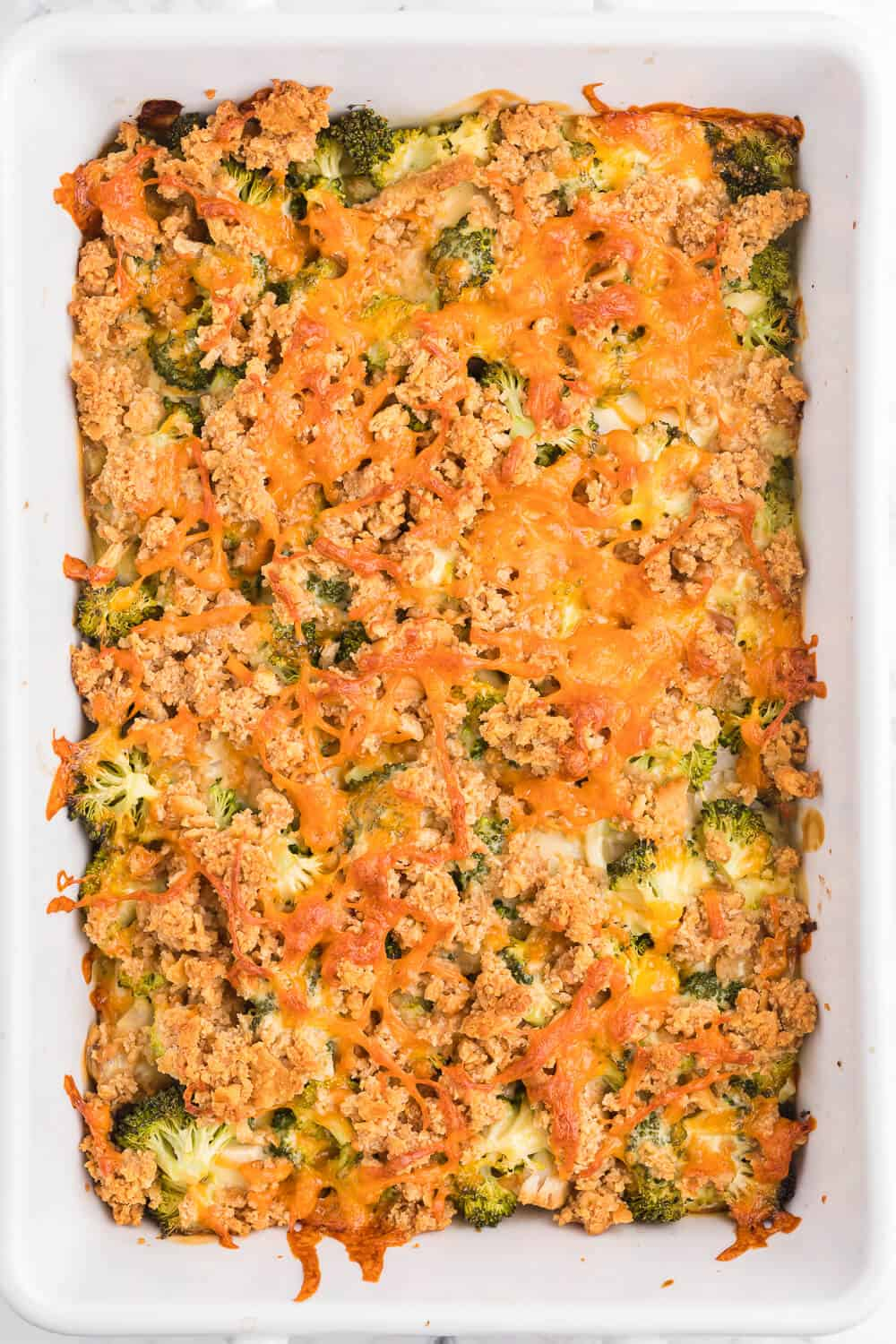 Chicken and Broccoli Casserole - This casserole is a great way to use leftover chicken. Combined with the broccoli and cheese, it is a family-pleasing main dish, served along side a salad.