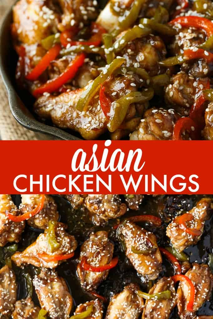 Asian Chicken Wings - Sticky, sweet and delicious! This yummy appetizer is a real crowdpleaser.