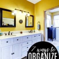 7 Ways to Organize Your Bathroom Cabinet