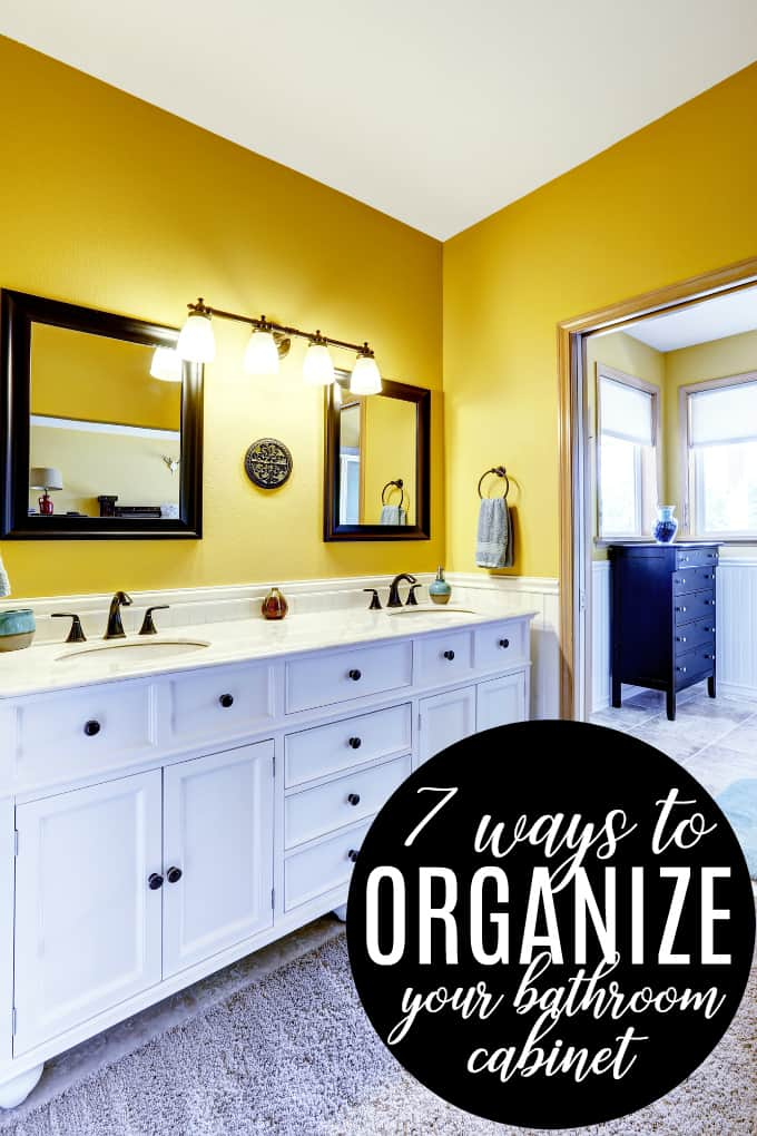 7 Ways to Organize Your Bathroom Cabinet - Get things organized so you can find them when you need them!