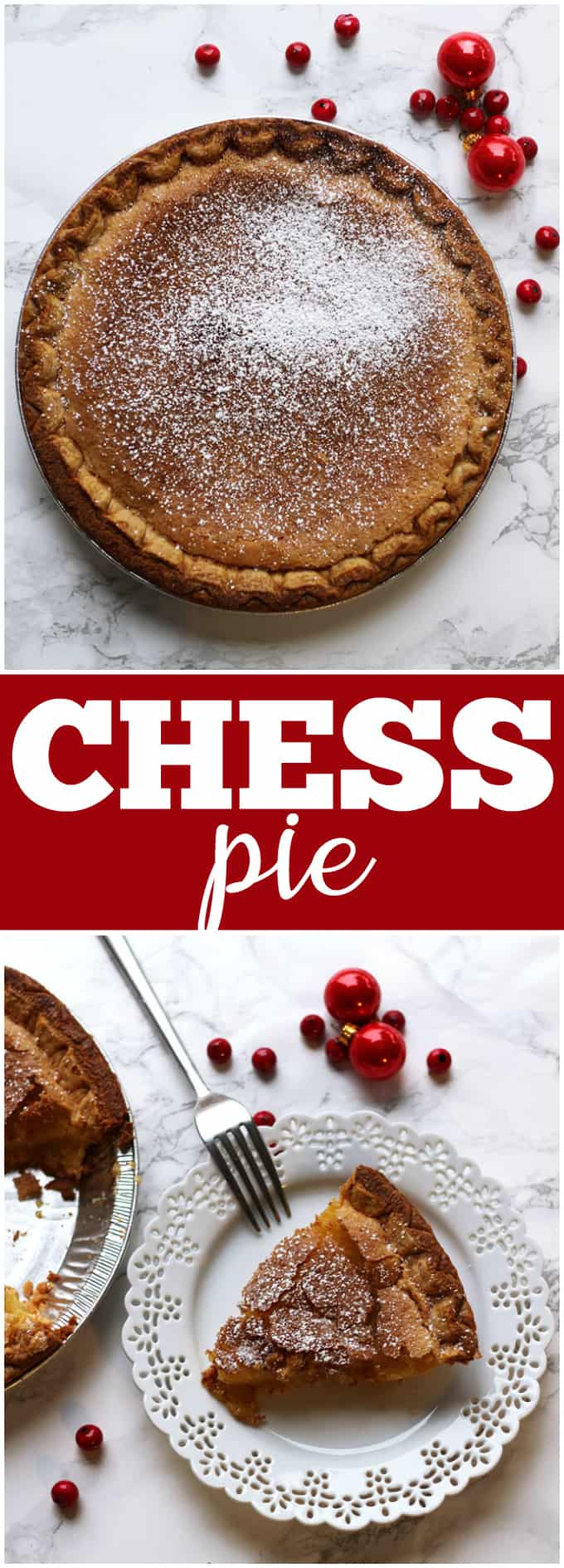 Chess Pie- Rich, sweet and timeless. Everyone is guaranteed to love this Southern classic pie!