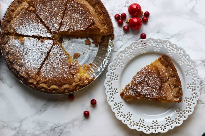 Chess Pie - A Southern classic dessert for every sweet tooth! This sweetened vanilla pie is great with ice cream or whipped cream.