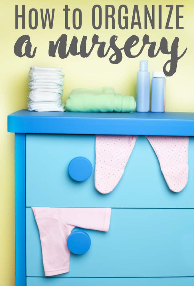 How to Organize a Nursery - Make life easier at 2am when you are dealing with an upset baby!