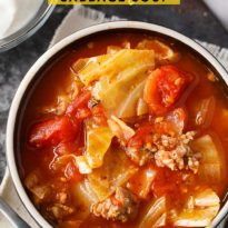 Sausage & Cabbage Soup - This low carb soup is easy to make and tastes delish! It's comfort food perfect for a cold winter's day.