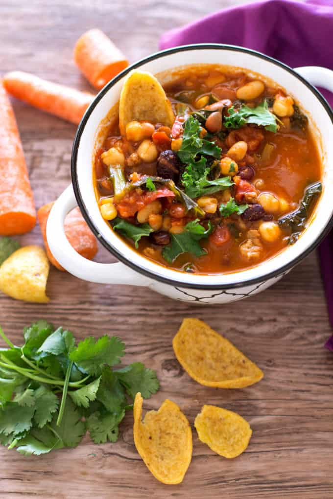 Southwestern Turkey 5 Bean Chili - If you're looking for that perfectly healthy powerhouse soup, this is it!