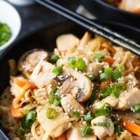 Cabbage & Peanut Butter Chicken Stir-fry