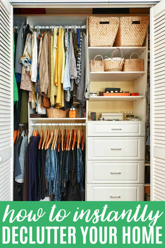 How to Instantly Declutter Your Home - Simple tips to get your home organized and company-ready quickly!