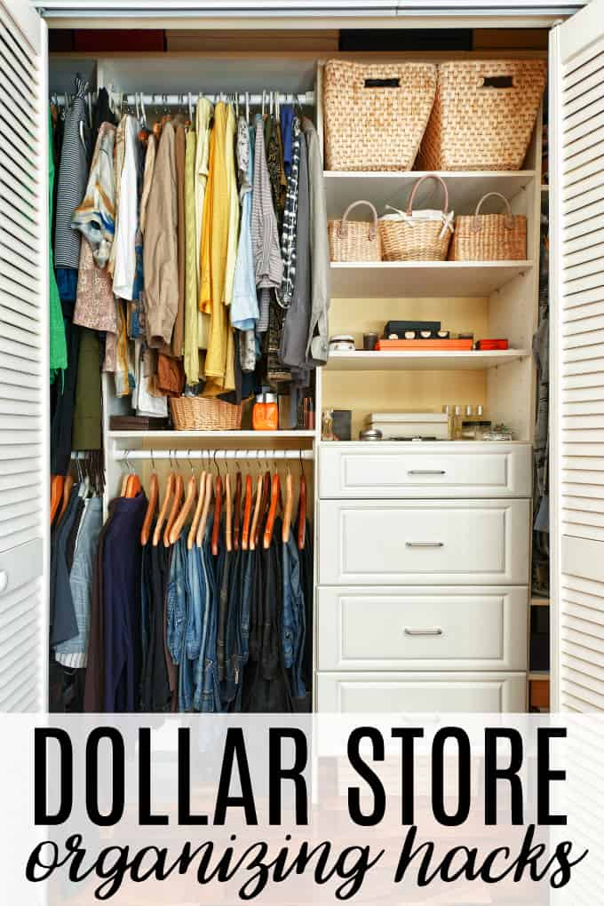 Dollar Store Organizing Hacks - There's no need to spend big bucks to get organized!