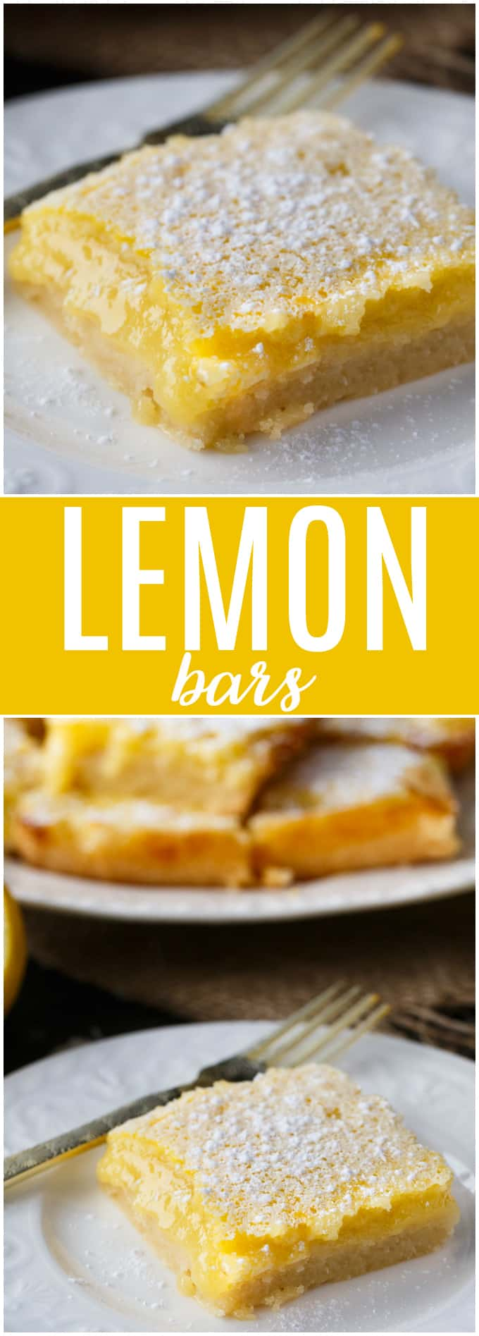 Lemon Bars - This easy lemon dessert will practically melt in your mouth!