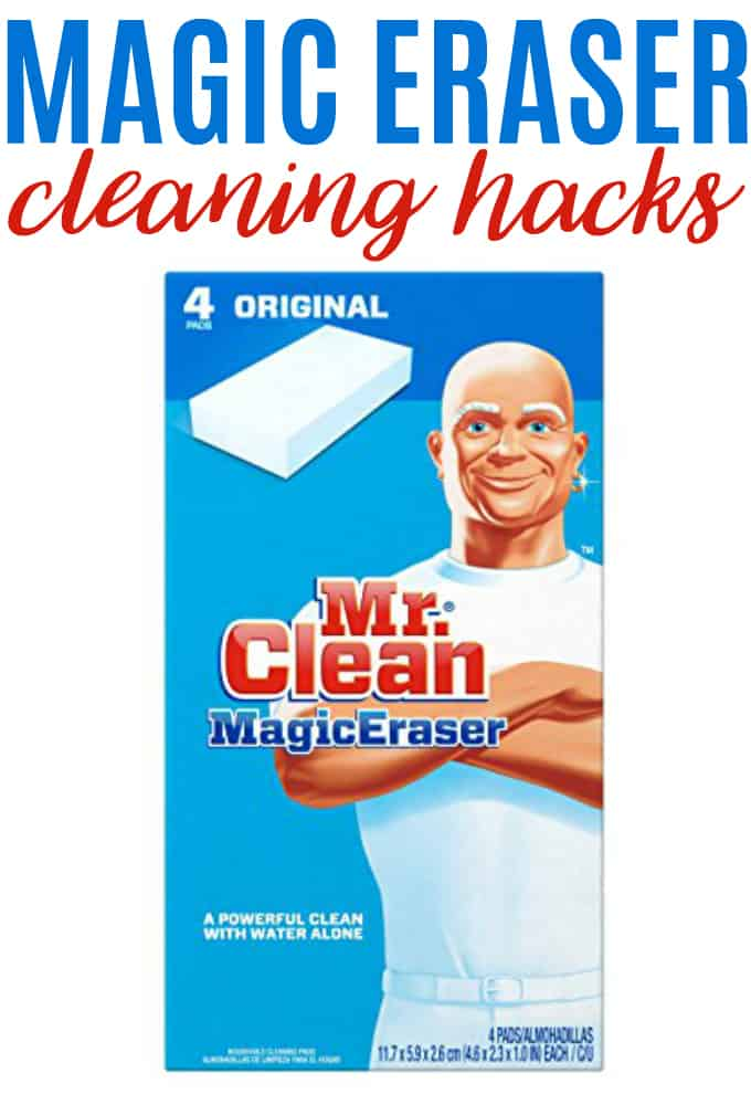 6 Magic Eraser Cleaning Hacks - Keep your home clean without bottles of chemical cleaning agents.