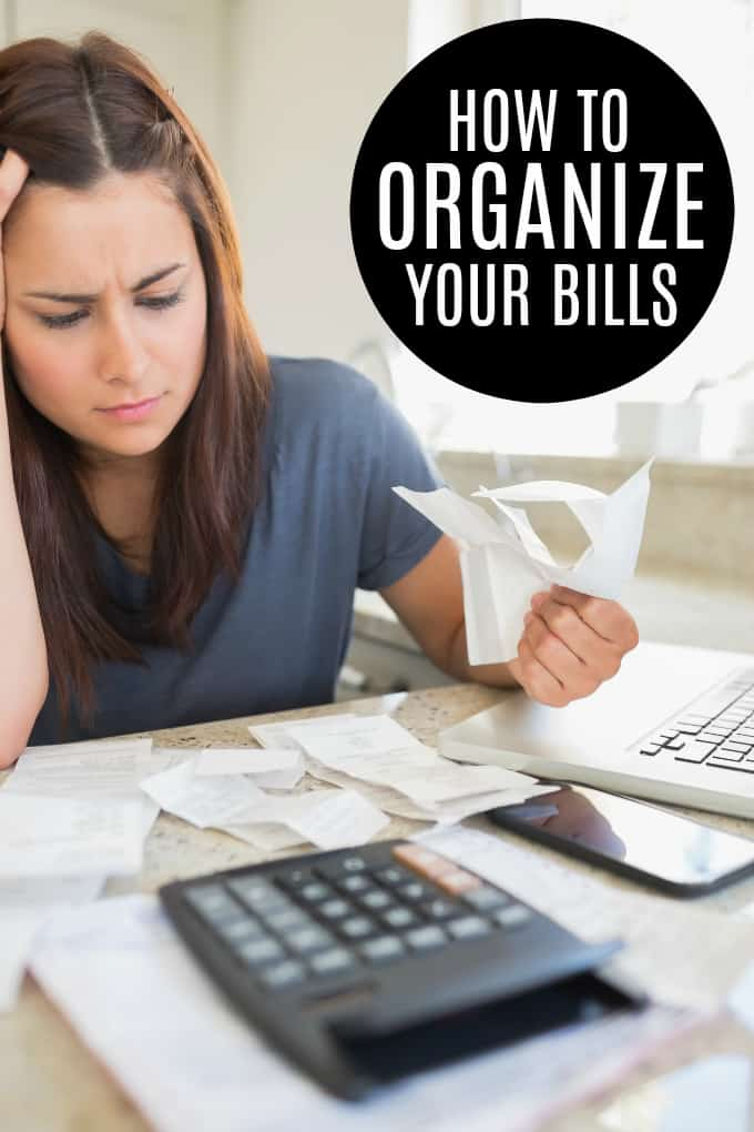 How to Organize Your Bills - Have you ever missed a due date on a bill payment? It can happen so easily! You can set up routines and habits to help avoid that!