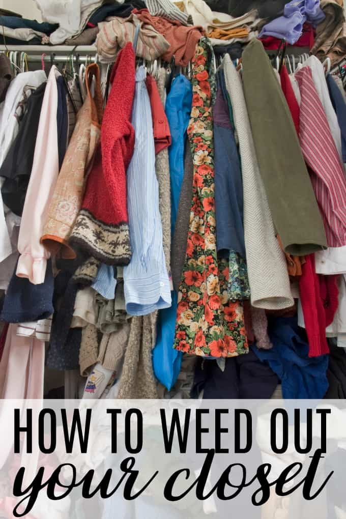 How to Weed Out Your Closet - The beauty of a good closet cleanout is that it makes it easier to stay on top of clutter. If you start with a gorgeous, organized space for all of your clothes, shoes and accessories, you can start each day off with a bang!