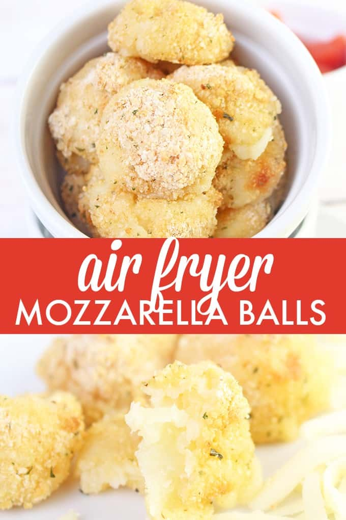 Air Fryer Mozzarella Balls - You'll love how fresh and delicious this appetizer is! Plus, it's easy to make in your air fryer.
