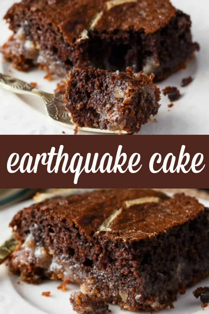 Earthquake Cake - Feel the earth move with this luscious dessert! It may not be the prettiest dessert, but it sure tastes delicious.