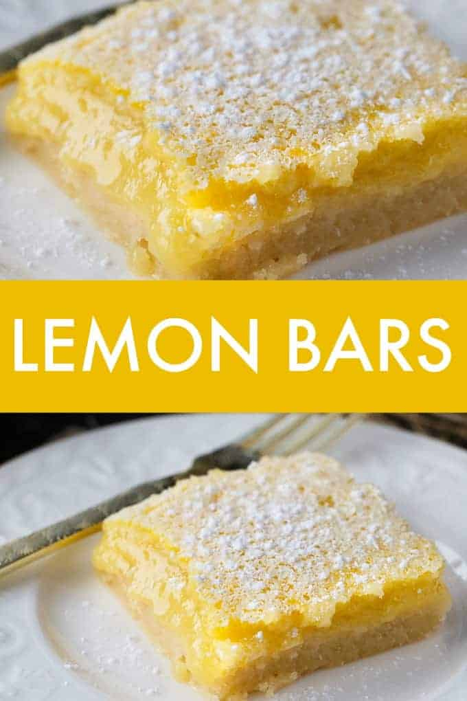 Lemon Bars - A beautiful tart classic. This luscious and tangy lemon dessert with a buttery crust is perfect for lemon lovers.
