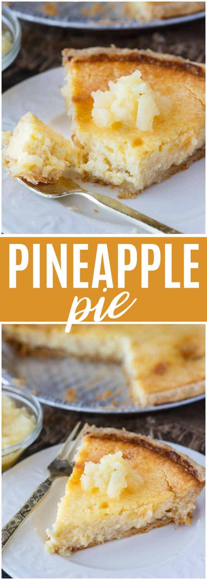Pineapple Pie - Creamy, smooth and tropical! This pie is easy to prepare and guaranteed to be loved by all.