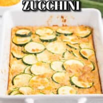 Baked Zucchini - An egg-based casserole with roasted zucchini slices, buttery crushed Ritz crackers and loads of cheese.