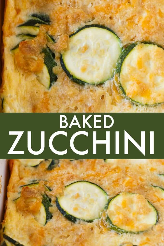 Baked Zucchini - An egg-based casserole with roasted zucchini slices and loads of cheese.