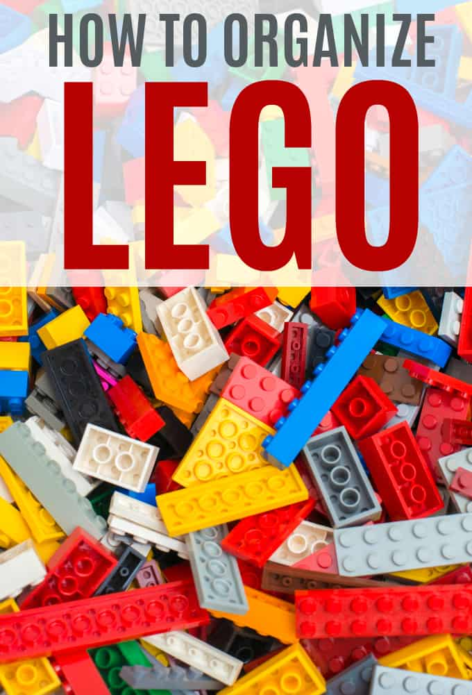 How to Organize LEGO - So you don't step on it! These simple storage ideas will save your sanity and feet, too.