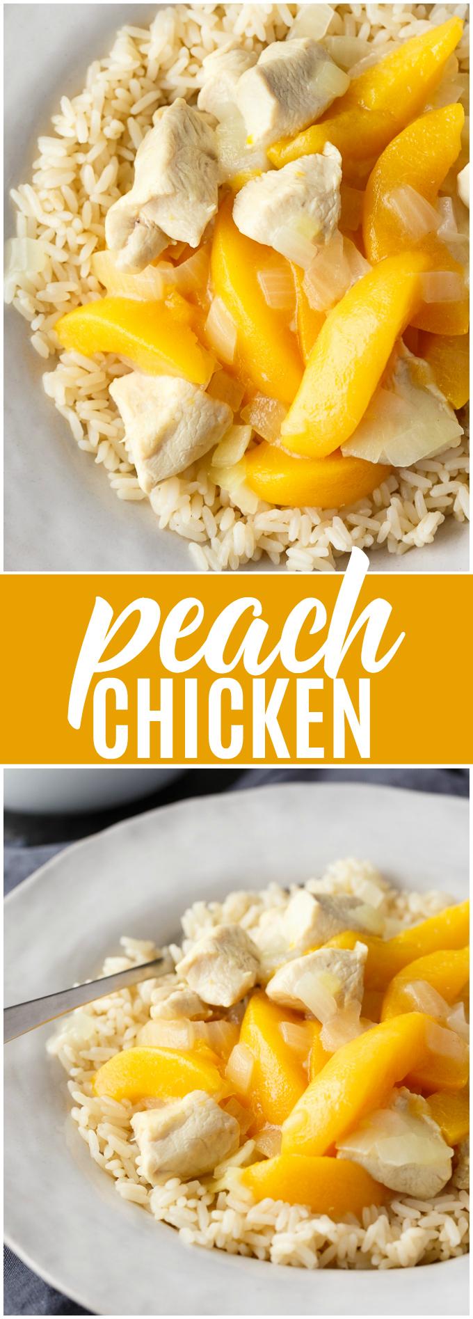 recipe: easy peach chicken recipe [27]