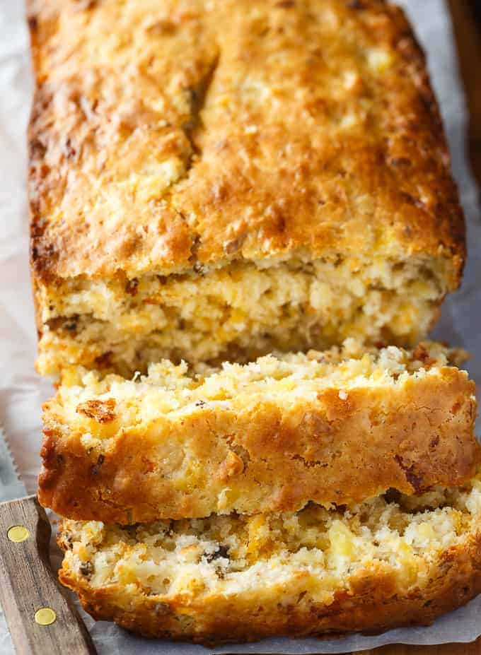 Pineapple Cheese Bread - This quick bread recipe reminds me of a Pineapple Cheese Salad my great grandmother used to make.