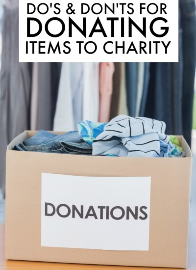 Do's and Don'ts for Donating Items to Charity