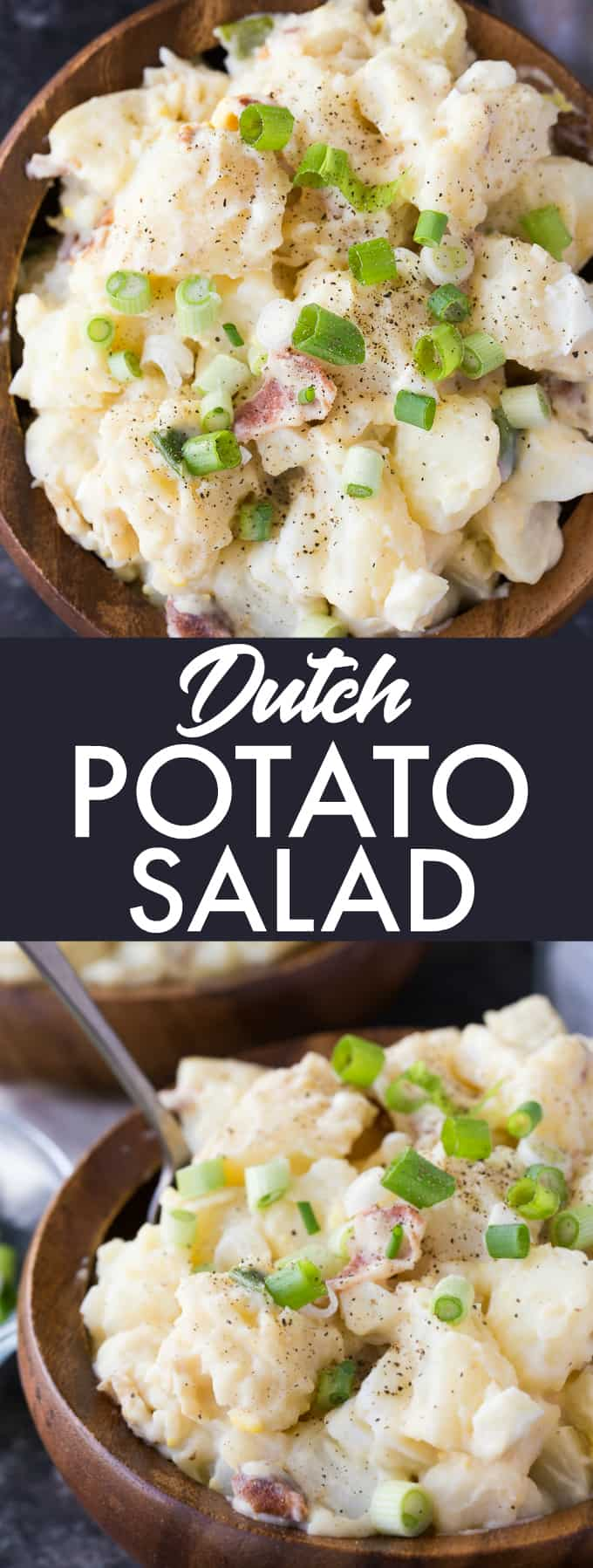 Dutch Potato Salad - Creamy, flavourful and delicious! This easy summer side salad is a must-make for a surefire crowdpleaser!