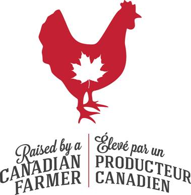Raised by a Canadian Farmer Logo