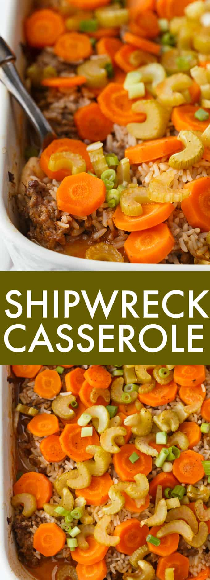 Shipwreck Casserole - The kind of meal grandma used to make! This layered casserole is stick to your bones delicious.