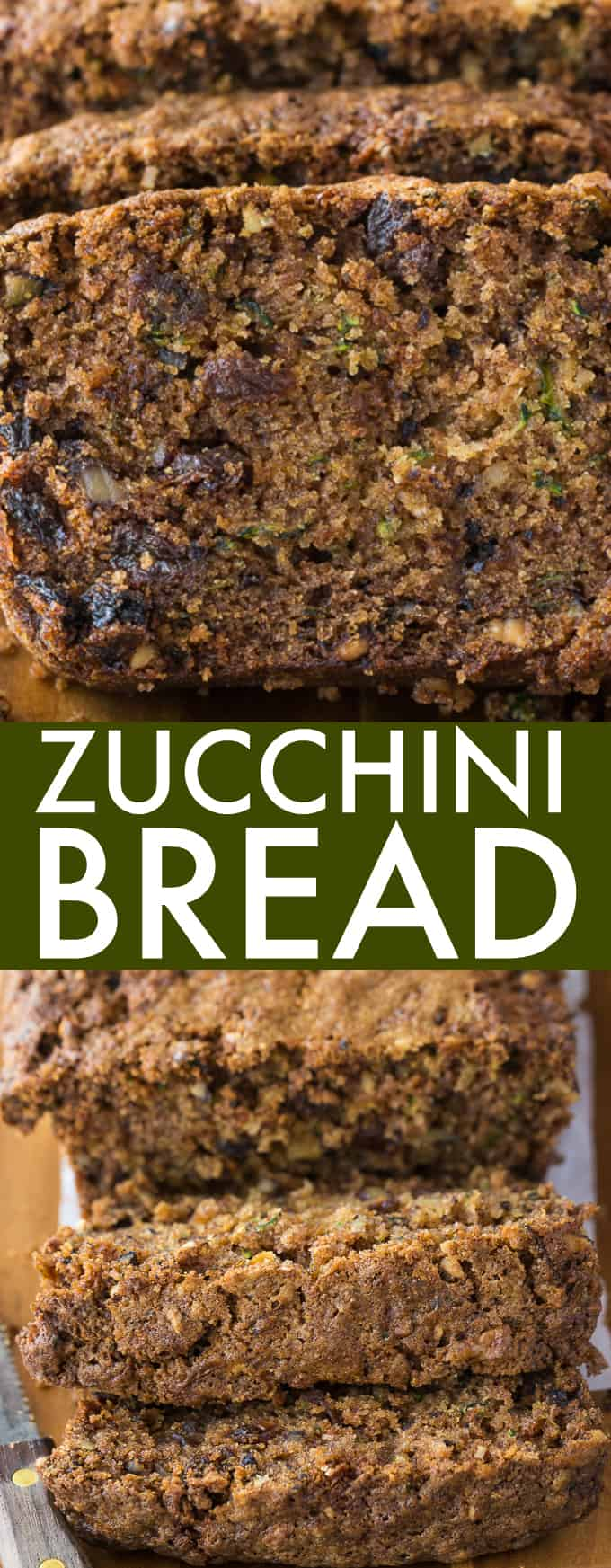 Zucchini Bread - Moist, sweet and delicious. My grandma's recipe is the best zucchini bread recipe ever!