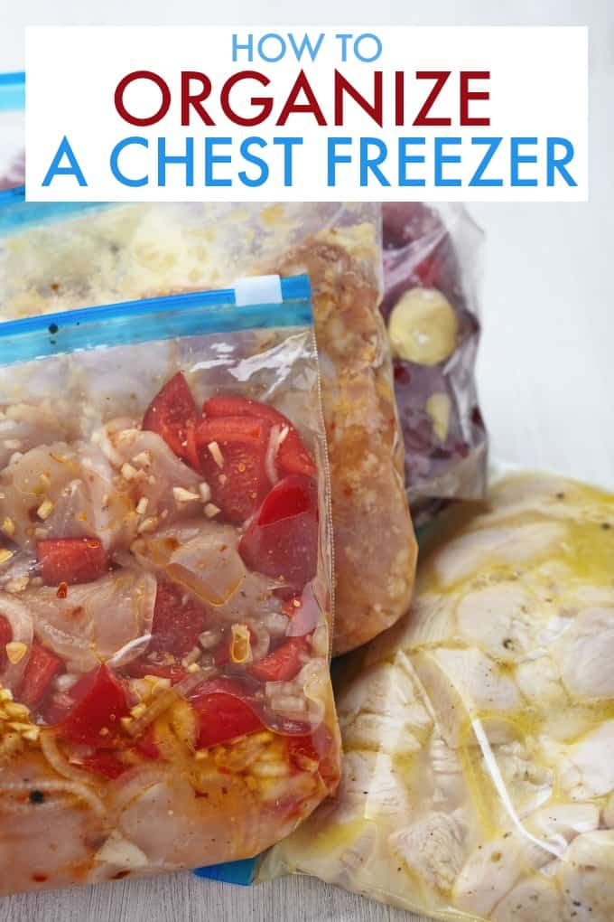 How to Organize a Chest Freezer - Your chest freezer can be the key to saving money, saving your weeknight dinner sanity and making feeding your family a breeze.