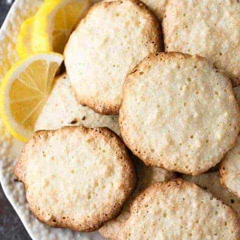Lemon Coconut Macaroon Cookies