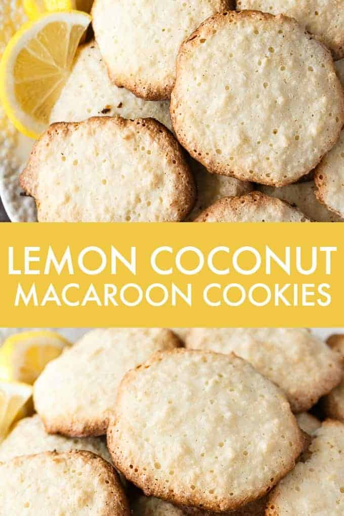 Lemon Coconut Macaroon Cookies - Light and crisp on the outside. Soft and chewy on the inside. This easy cookie recipe tastes like heaven.