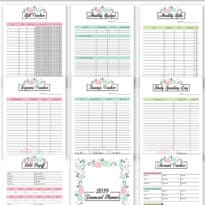 2019 Financial Planner Free Printable
