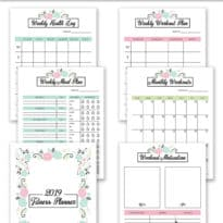 2019 Fitness Planner Free Printable