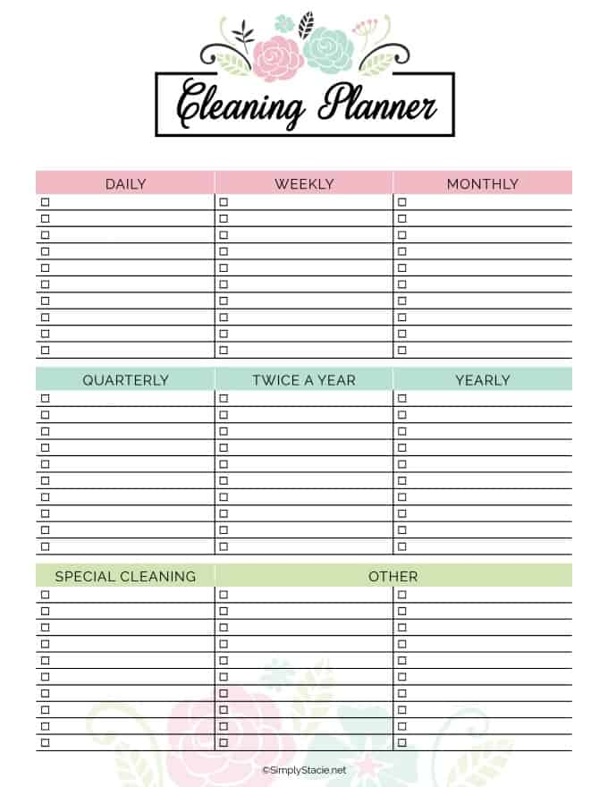 2019 Household Planner - Get organized in 2019 with free printables! This household planner has everything you need to get started.