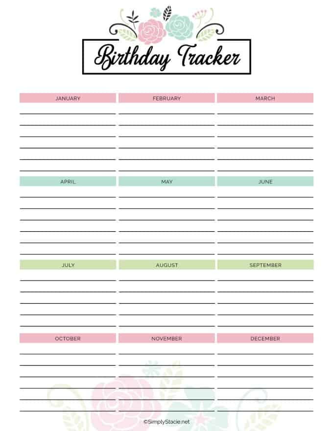 picture about Free Printable Birthday Calendar named 2019 Per year Calendar Free of charge Printable - Easily Stacie