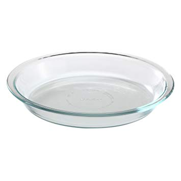 "Pyrex Glass Bakeware Pie Plate 9"" x 1.2"" Pack of 2"