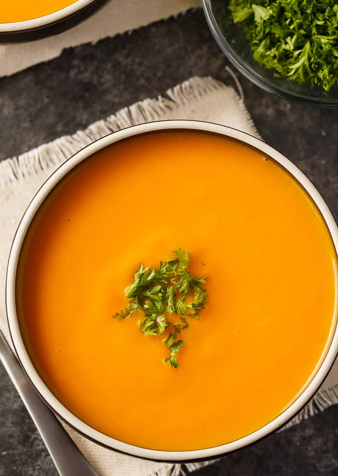 Cream of Carrot Soup - Smooth, creamy and full of flavor. This delicious soup recipe is great any time of year.