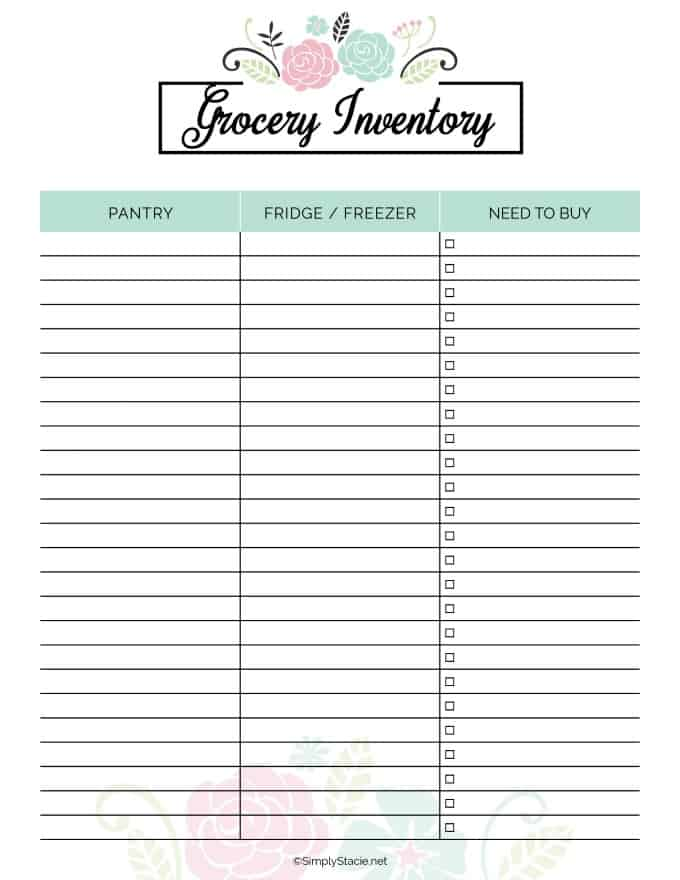 picture relating to Meal Planner Free Printable referred to as 2019 Supper Planner Free of charge Printable - Quickly Stacie