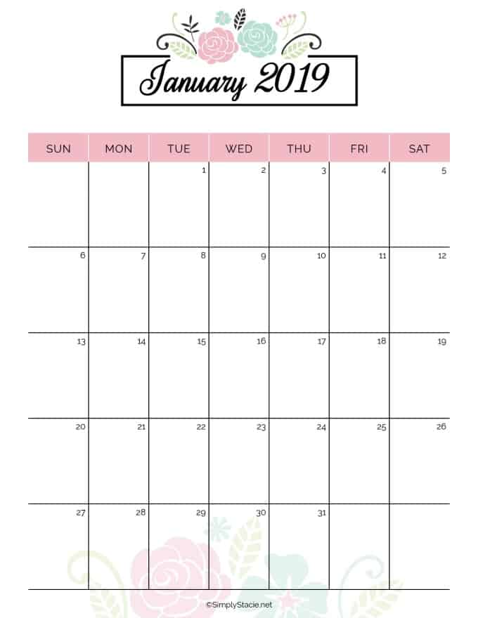 graphic regarding Monthly Planning Calendar referred to as 2019 Dinner Planner Absolutely free Printable - Very easily Stacie