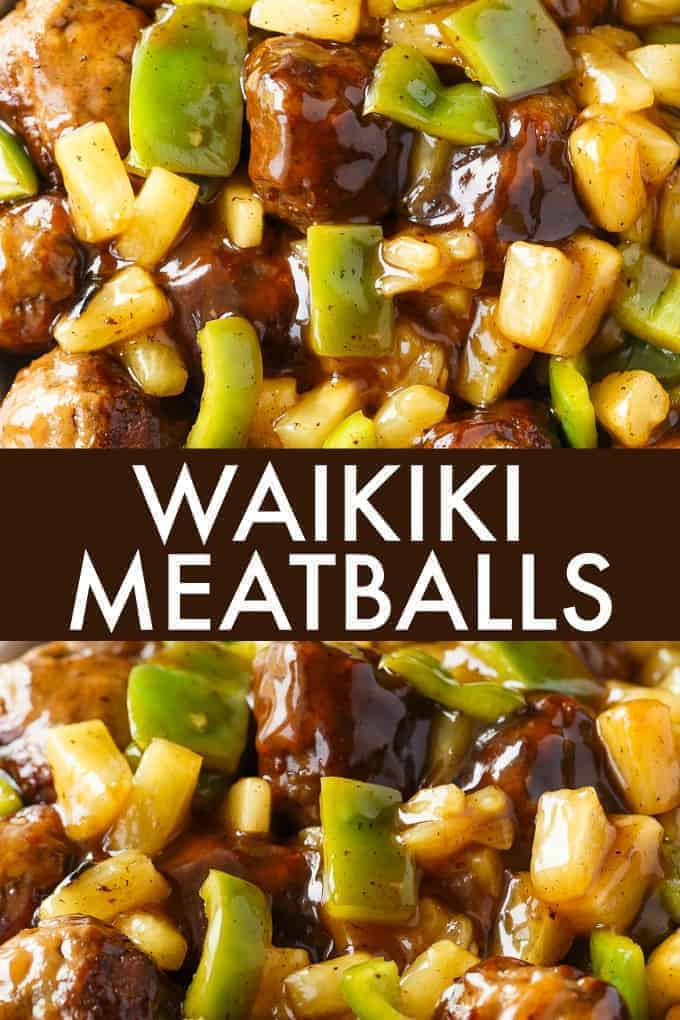 Waikiki Meatballs - A winning meal to add to your dinner rotation! These yummy meatballs are sweet and delicious.