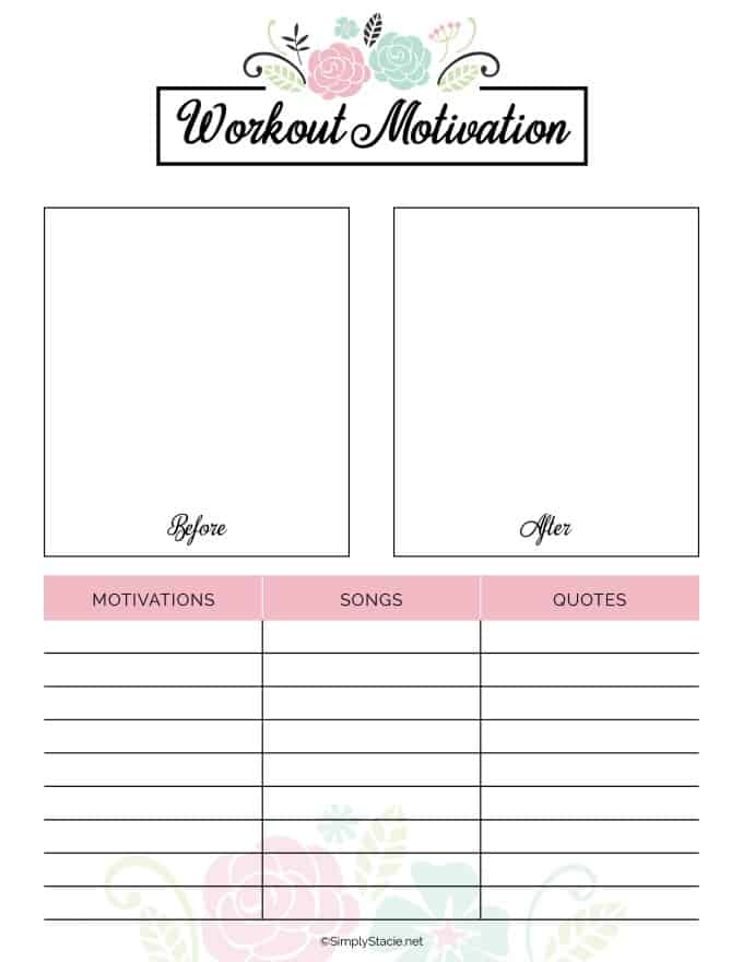 Sassy image throughout fitness printables