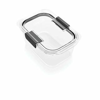 Rubbermaid Brilliance Food Storage Container, Medium Deep, 4.7 Cup, Clear 1991157