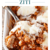 Keto Cauliflower Ziti - Enjoy all the flavours of hearty Italian meal without the carbs! This keto casserole is meaty and cheesy.