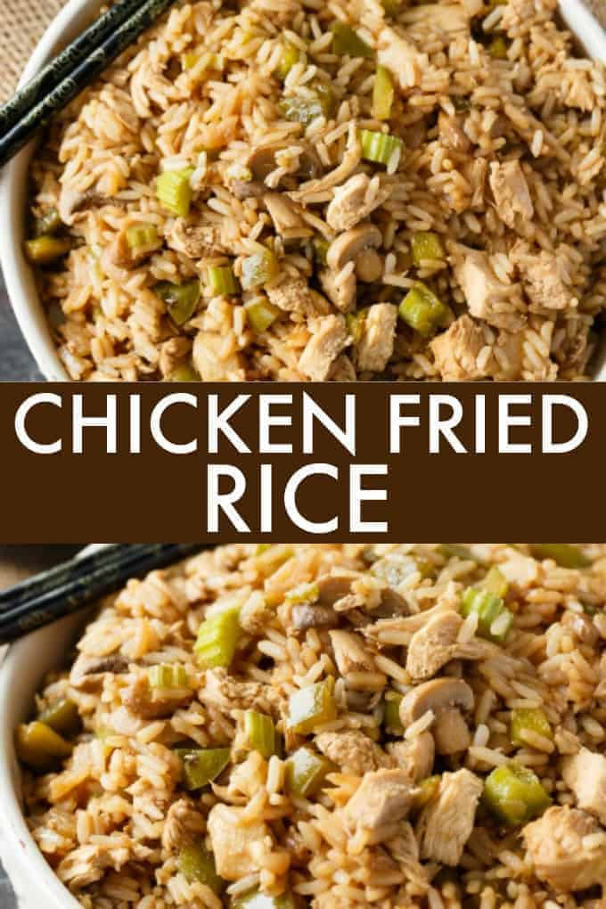 Chicken Fried Rice - Better than takeout! This easy family recipe is loved in our home. It's full of flavor and delicious.