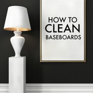 image of baseboard and lamp
