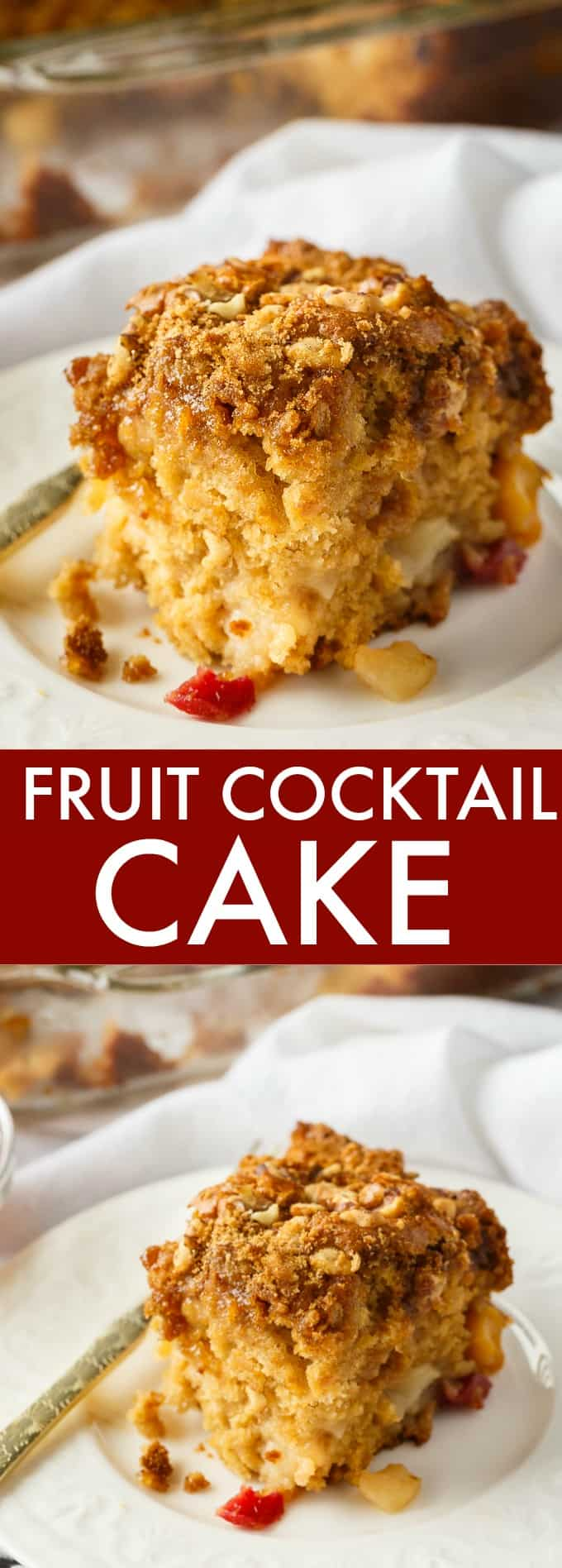 Fruit Cocktail Cake - A super moist vintage cake that everyone loves! It's so easy to make that it practically makes itself.