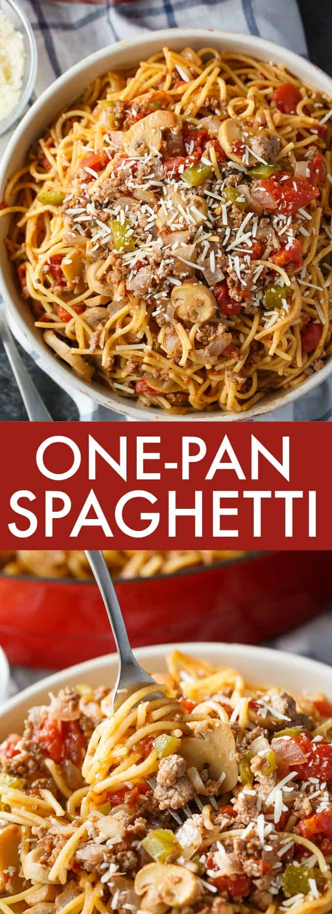 One-Pan Spaghetti - The best way to make spaghetti for dinner! Less mess and so easy to make.