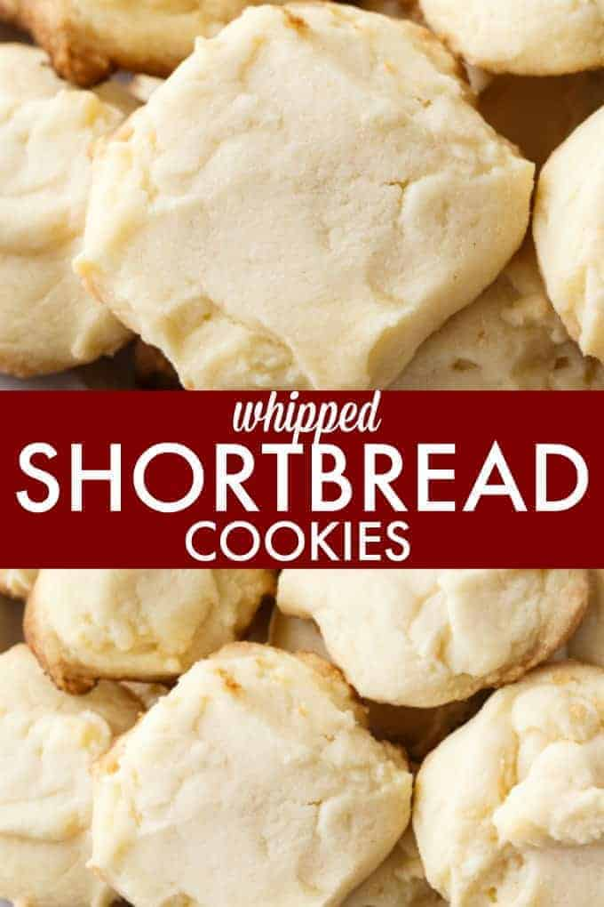 Whipped Shortbread Cookies - These delightful holiday cookies will melt in your mouth. They are light, buttery and SO easy to make.